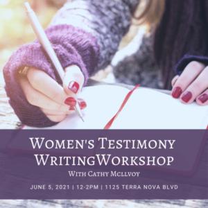Testimony Writing Workshop